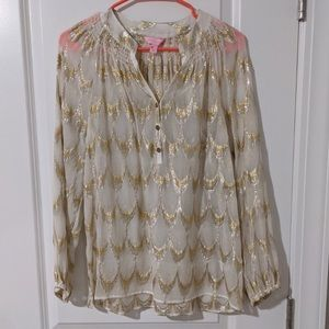 MOVING SALE! Lilly Pulitzer Elsa blouse